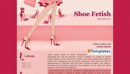 shoefetish Pink Blogger Templates