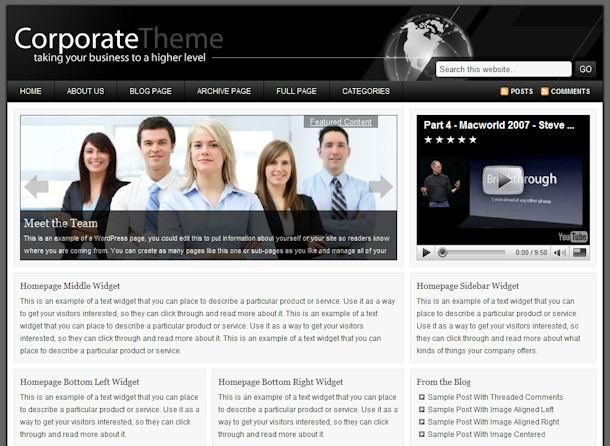 Corporate WordPress Theme picture