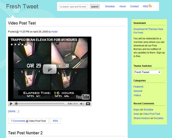 Twitter Inspired Themes 2
