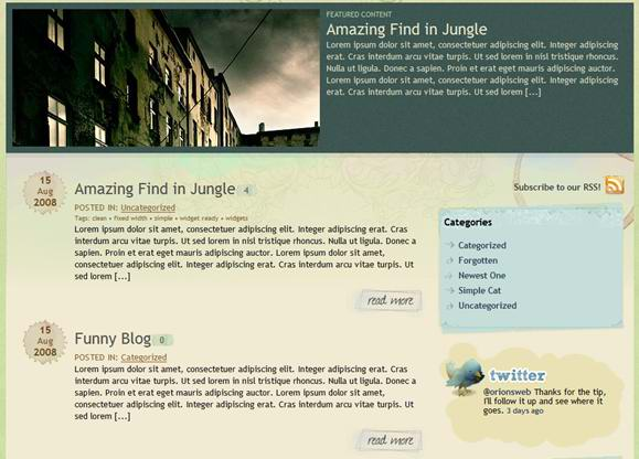 Twitter Inspired Themes 4