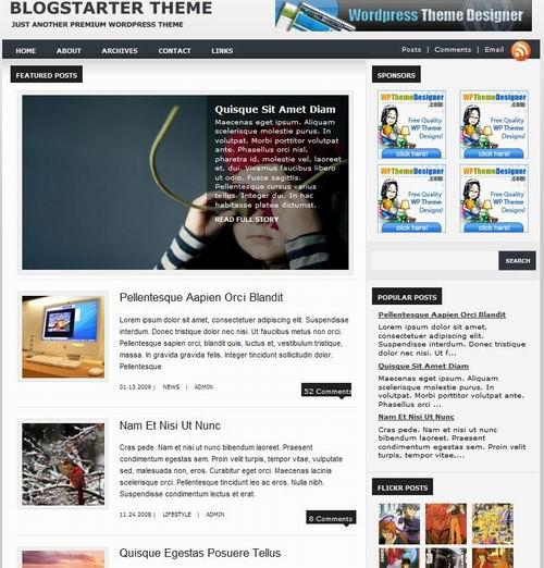 blogger starter wordpress magaizne
