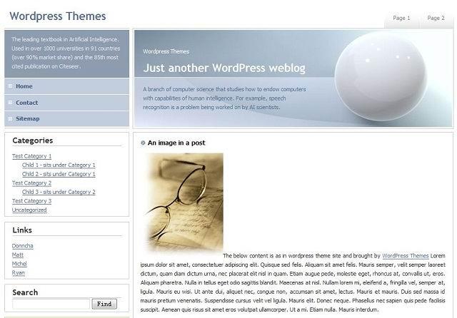 2 columns  White  Fixed width  Widget ready  Left sidebar Business wordpress theme