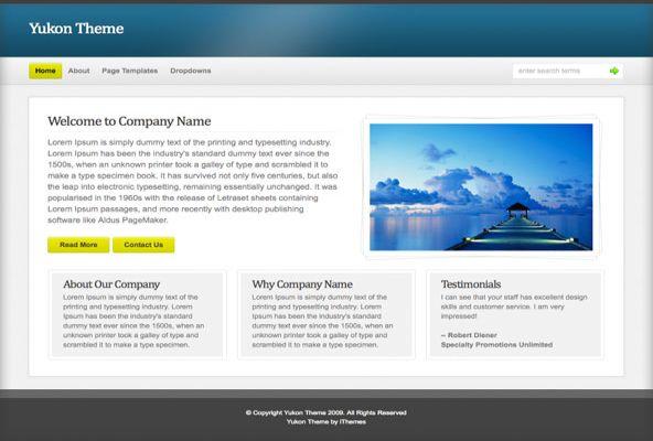 Free WordPress Business Blue Theme Template