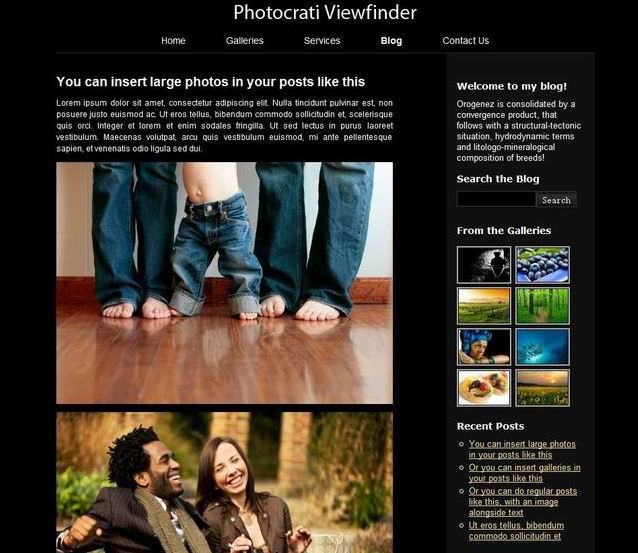 Premium WordPress Themes for Photographer