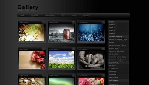 blogger 3 Columns gallery templates