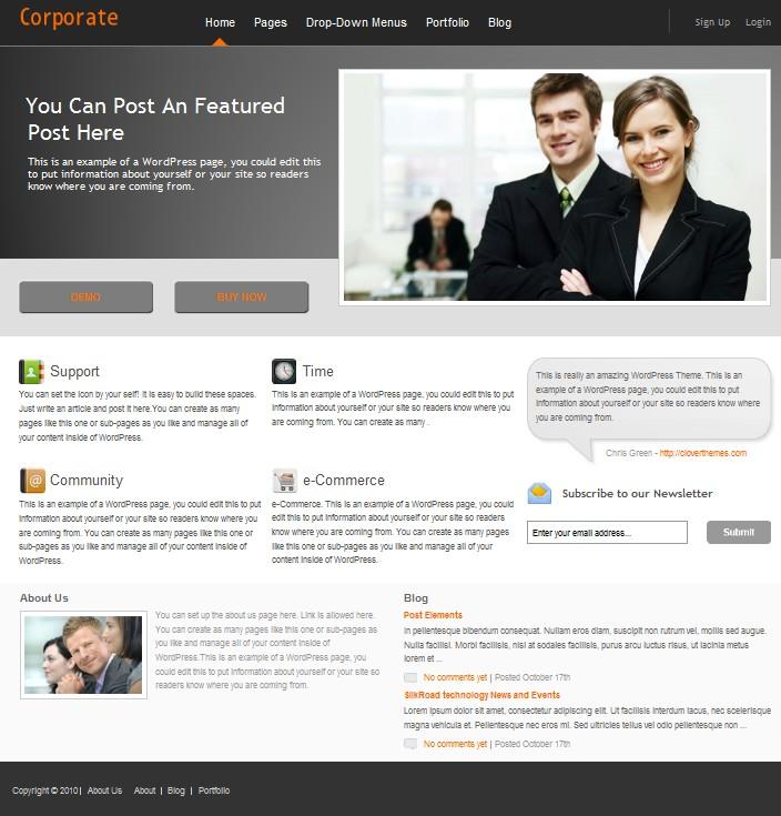 business wordpress theme corporate