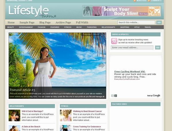 free Studio Press Lifestyle theme