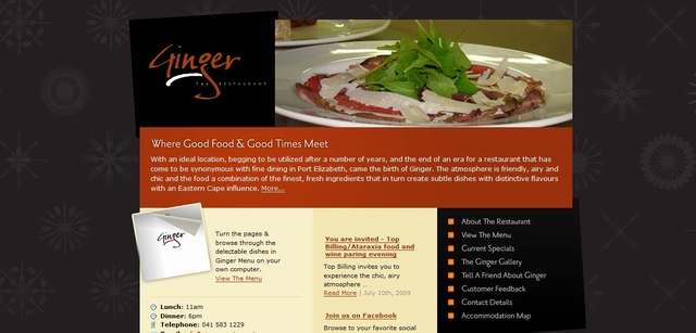 restaurant website wordpress theme
