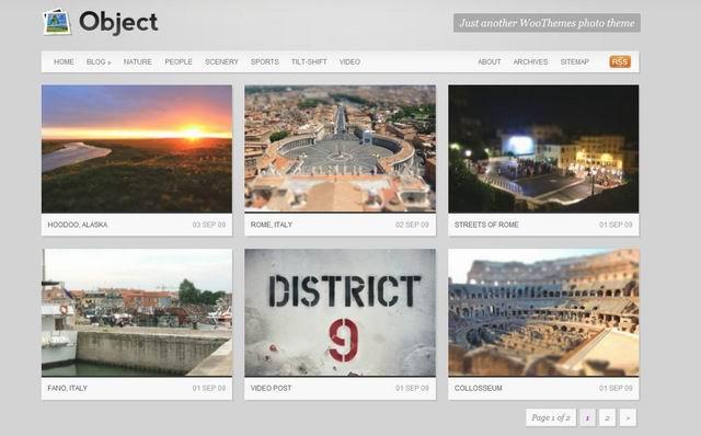 wordpress object gallery theme