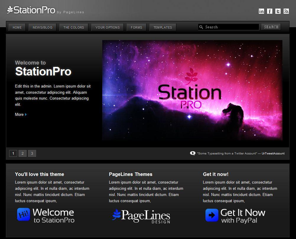 StationPro Corporate Marketing wordpress theme