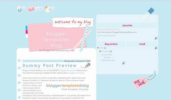 baby-blue-blogger-template