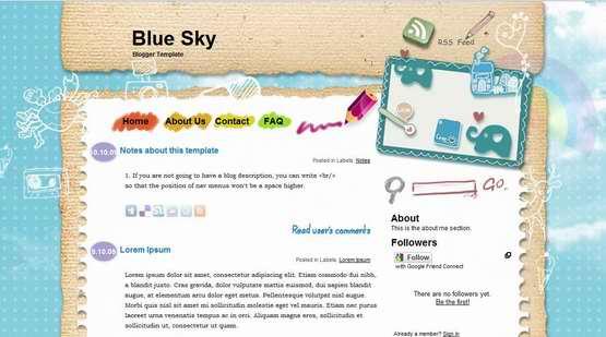 blue-sky-blogger-template