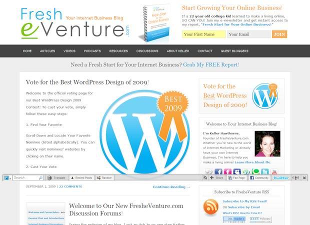 fresheventure wordpress affilate theme