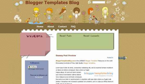 girls-fantasy-land-blogger-template
