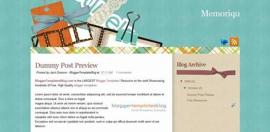 memoriqu-blogger-template