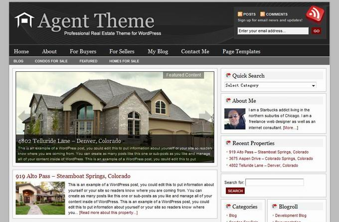 wordpress agent theme