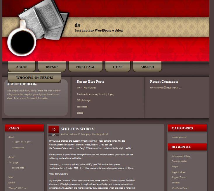 free cafe restaurant wordpress theme