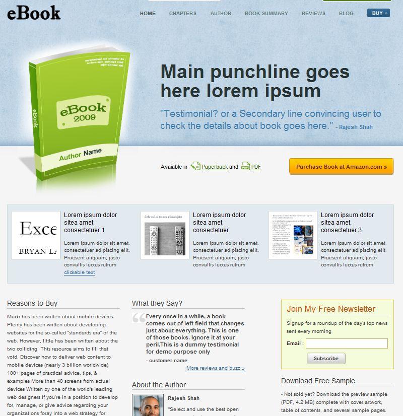 CMS wordpress business theme ebook