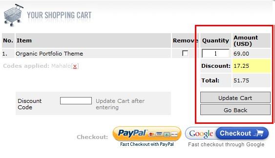 organic themes discount code