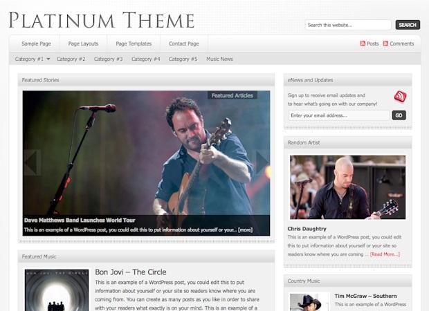 platinum magazine wordpress theme