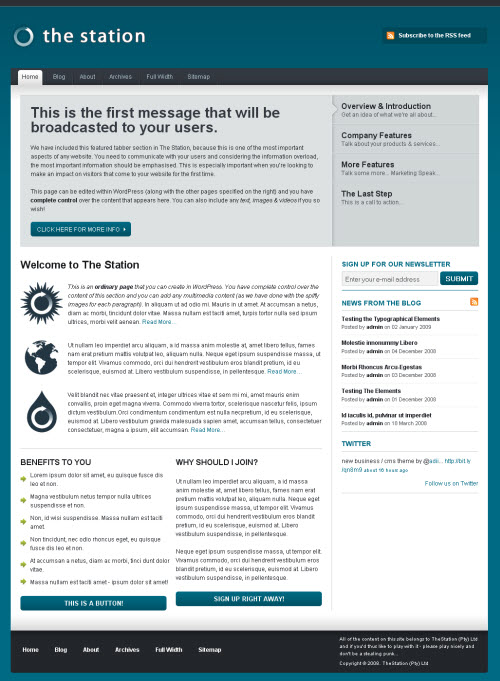 the station wordpress theme from woothemes
