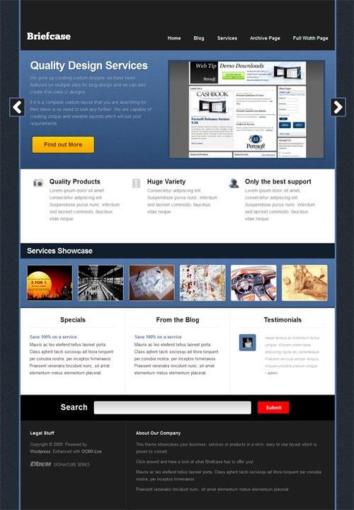 Briefcase CMS WordPress Theme