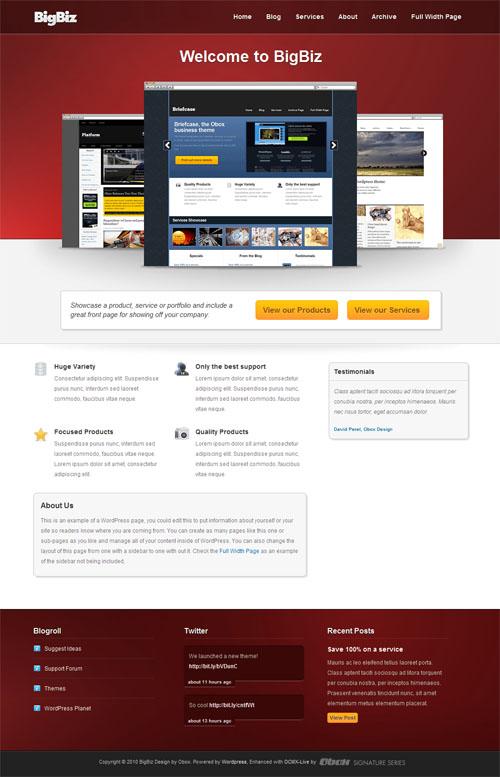 big biz wordpress theme