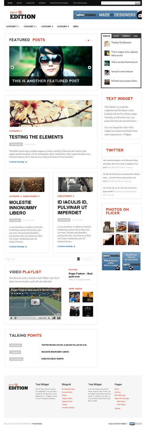 Daily Edition Premium WordPress Theme