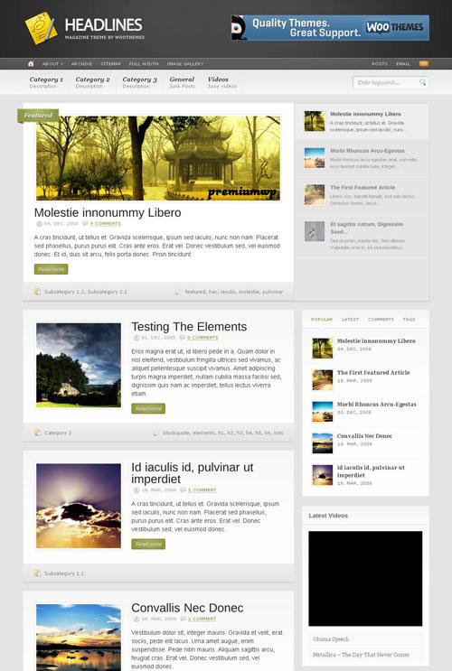 Headlines Premium WordPress Theme
