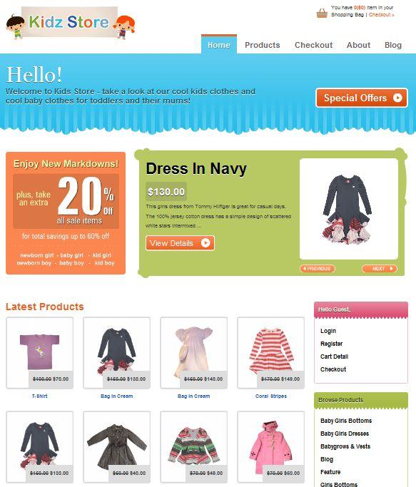 2010 New e-commerce WordPress Theme KIDS STORE picture