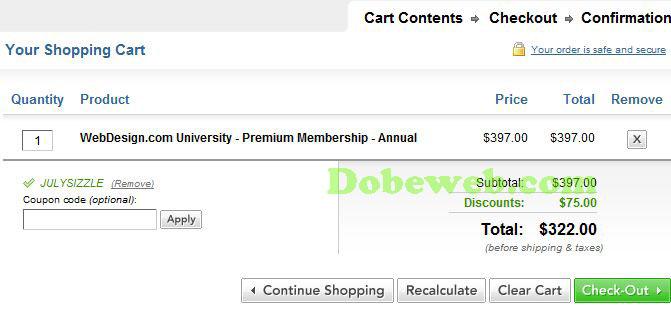WebDesign coupon