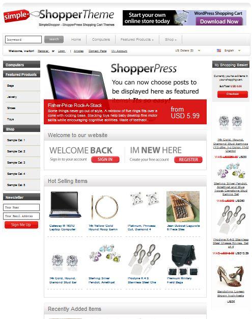 eCommerce WordPress Templates ShopperPress