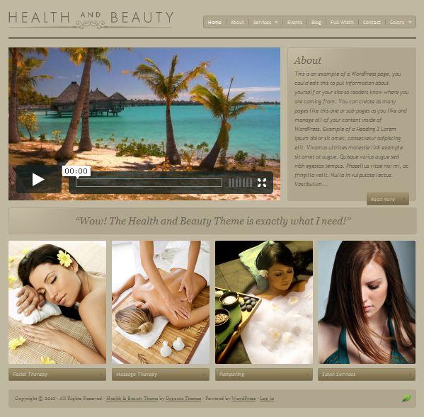 Salon,SPA,Massage WordPress Theme:Health and Beauty Theme
