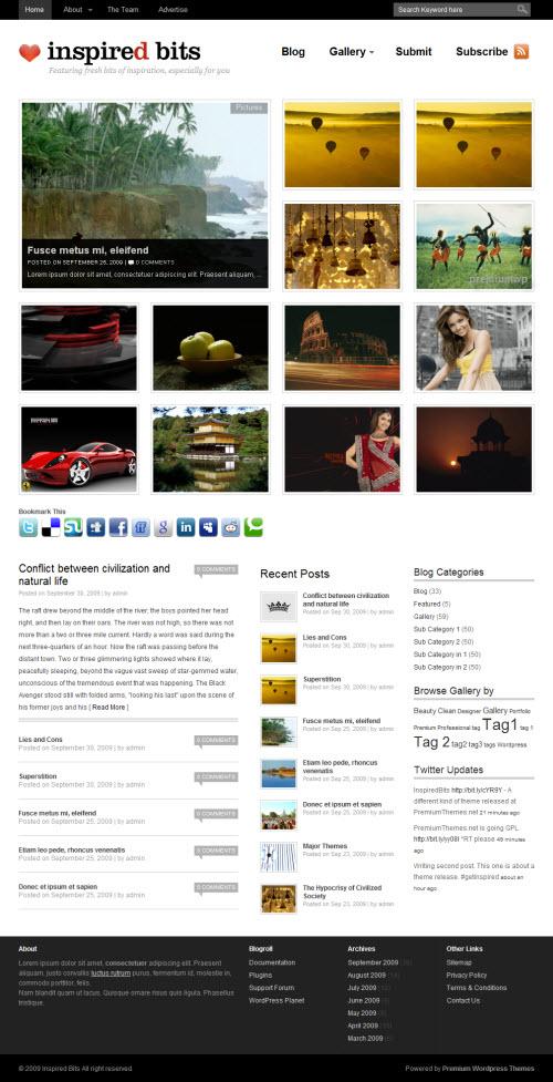 Inspired Bits Premium WordPress Theme
