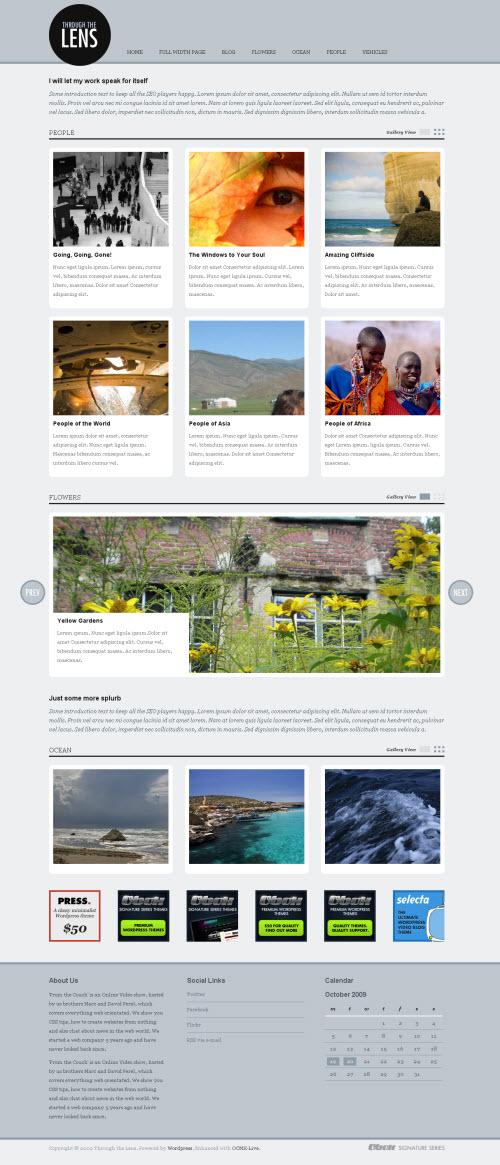 Through The Lens Premium WordPress Theme