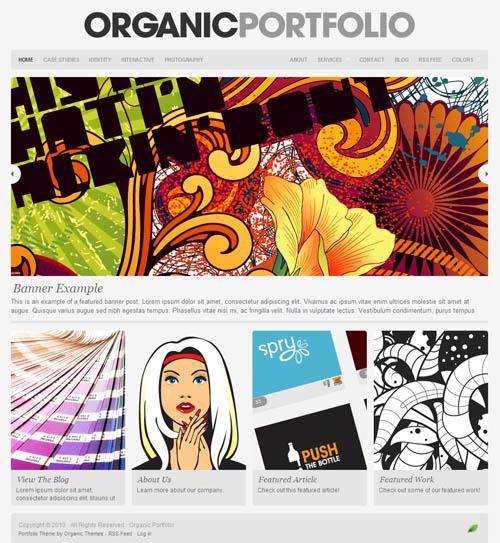 organic portfolio wordpress theme