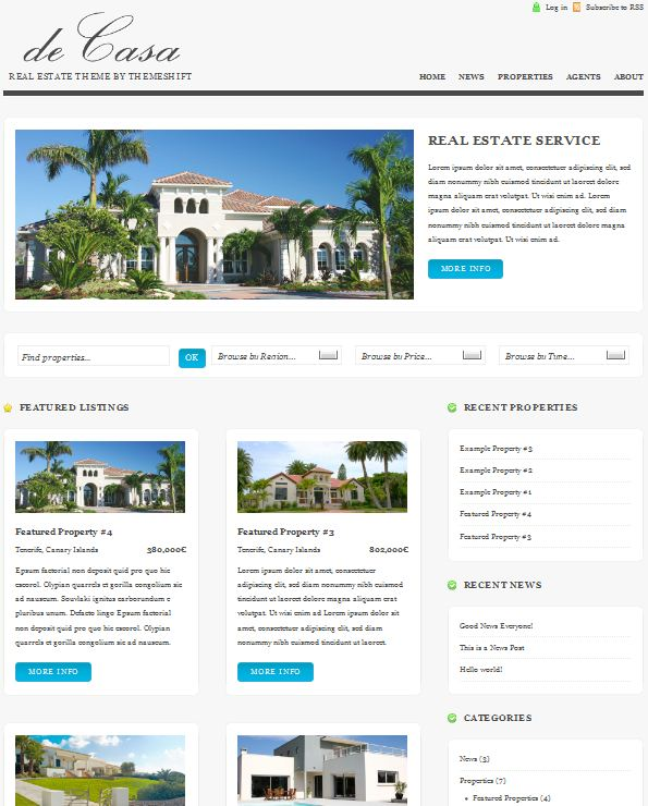 WP Real Estate Theme deCasa picture