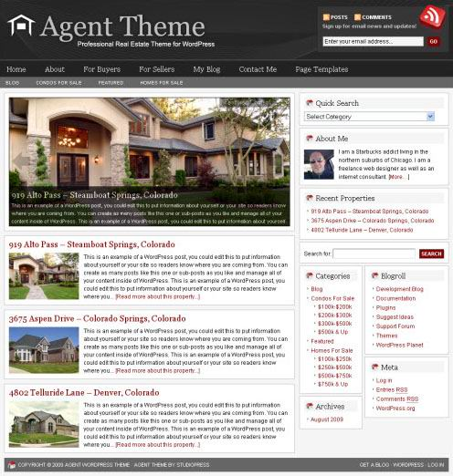 Studiopress Real Estate WordPress Theme Agent picture