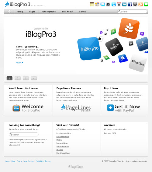 iBlog Pro CMS WordPress Theme for Corporate Websites picture