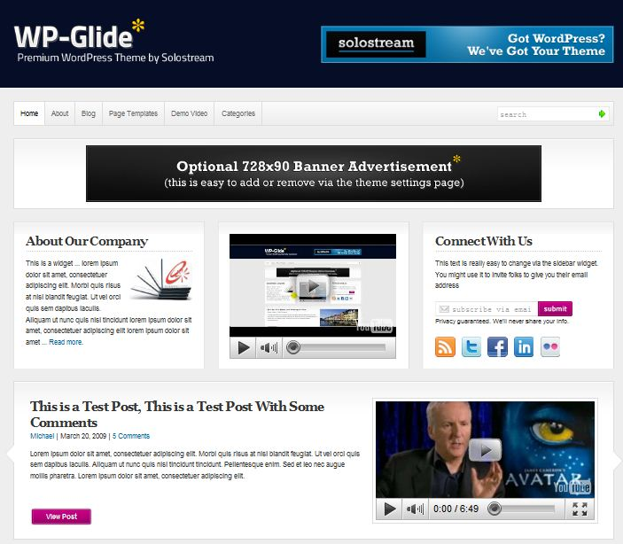 SoloStream WP-Glide magazine wordpress theme image