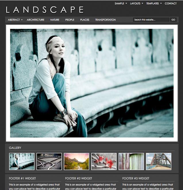 studiopress landscape photo wordpress theme