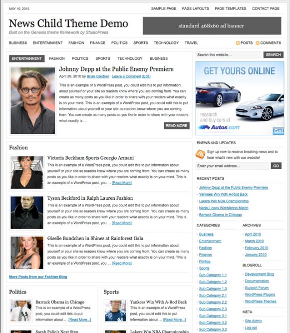 news wordpress theme picture