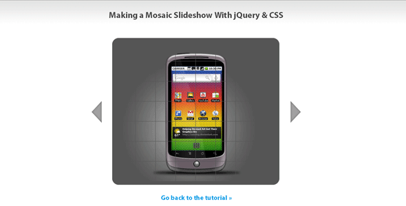 Making a Mosaic Slideshow With jQuery & CSS