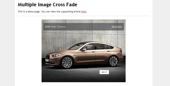 Multiple Image Cross Fade