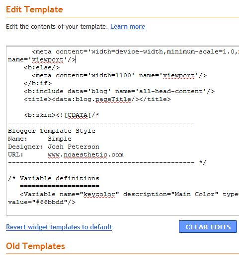 remove blogger footer links