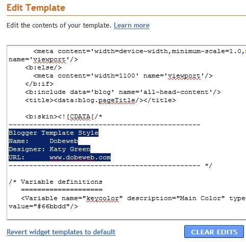 Remove Blogger (Blogspot) Footer Links
