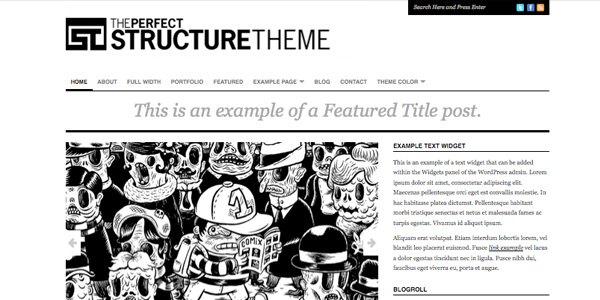 structure 20 Excellent Free WordPress 3.0 Themes