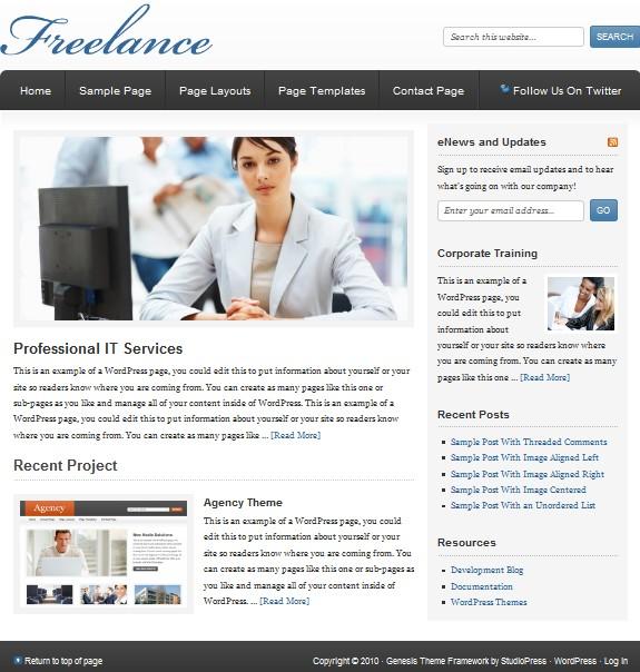 company wordpress themes