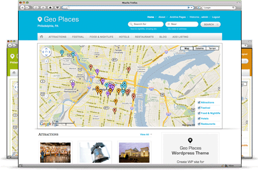 geo places wordpress theme