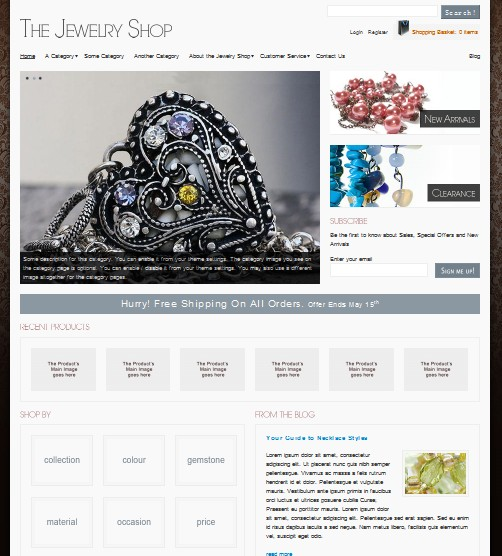 the jewelry wordpress theme